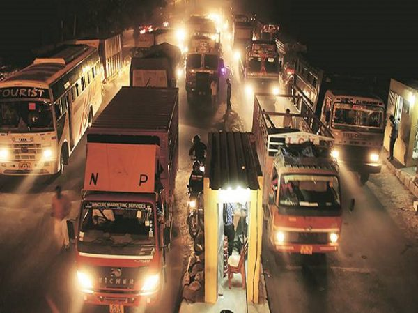 complete ban on commercial vehicles