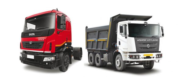 ashok leyland and tata motors truck