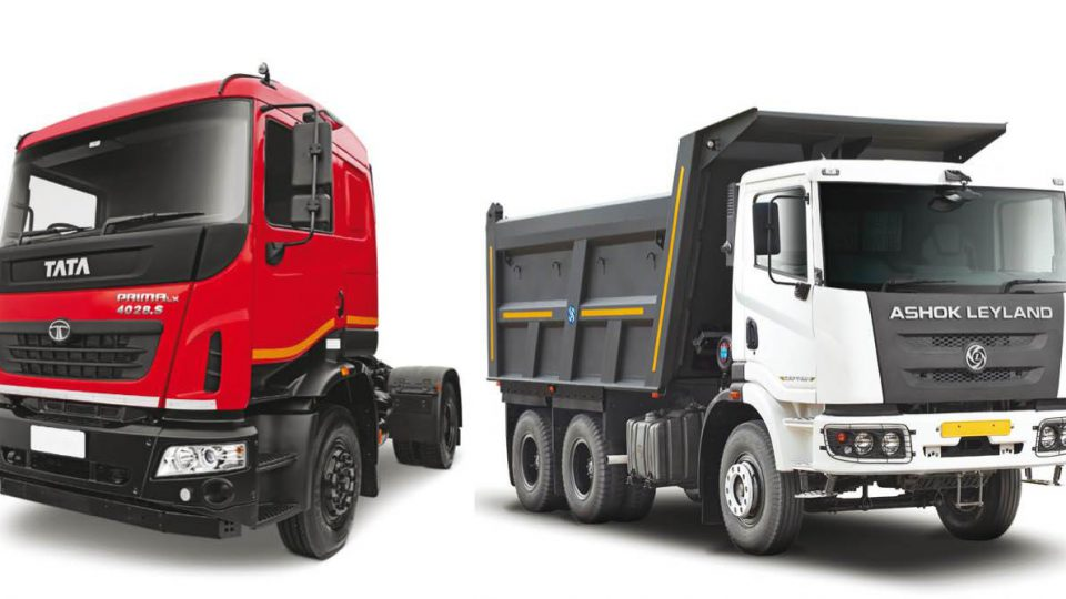ashok leyland and tata motors truck